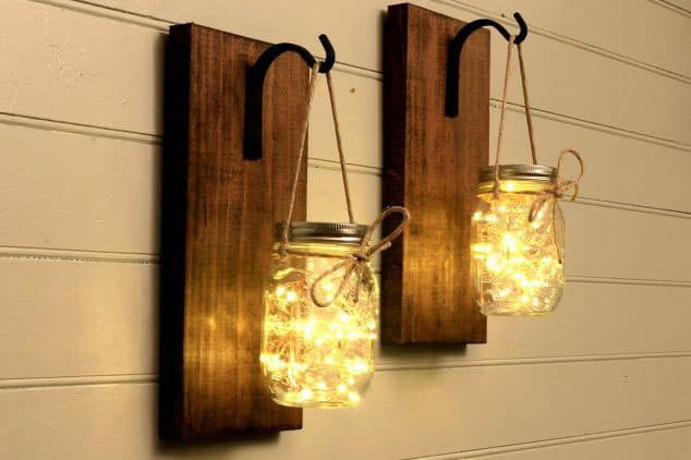 Beautiful Mason Jar Sconces