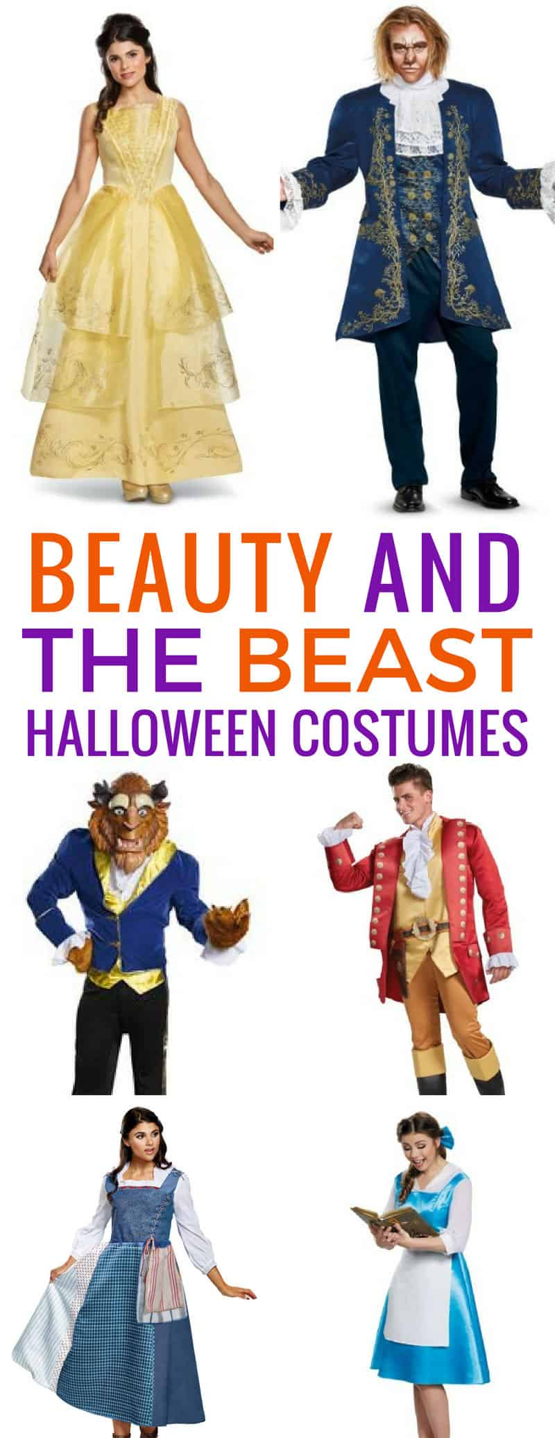 Loving these Beauty and the Beast costumes for Halloween - we'll be the best family at the party!