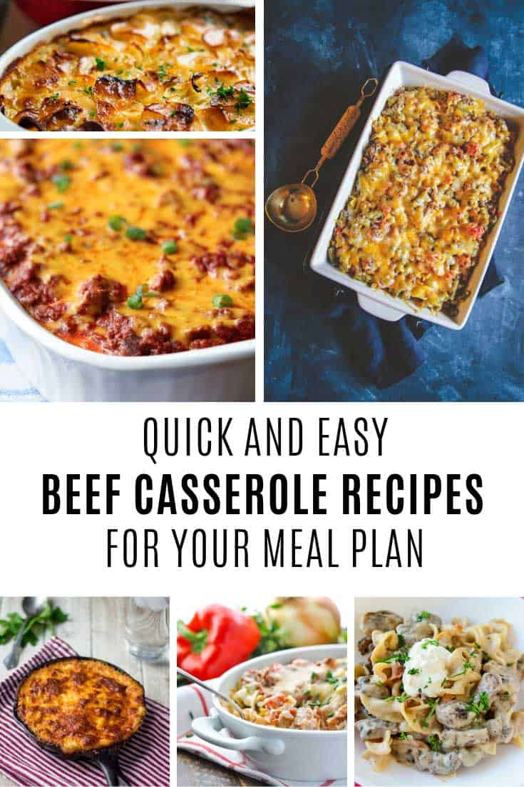 Yummy beef casserole recipe ideas to add to your meal plan!