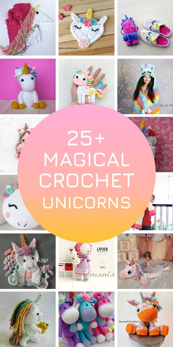 So many beginner unicorn crochet patterns to try for Christmas gifts! #unicorns #crochetpatterns