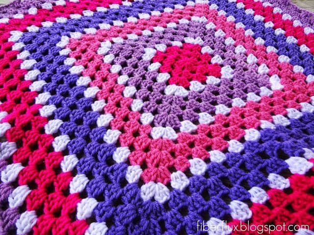 Free Crochet Pattern...Berry Season Blanket
