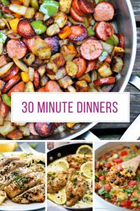 Just what i need for meal planning - 30 minute dinner recipes that are quick and easy - and taste GREAT!