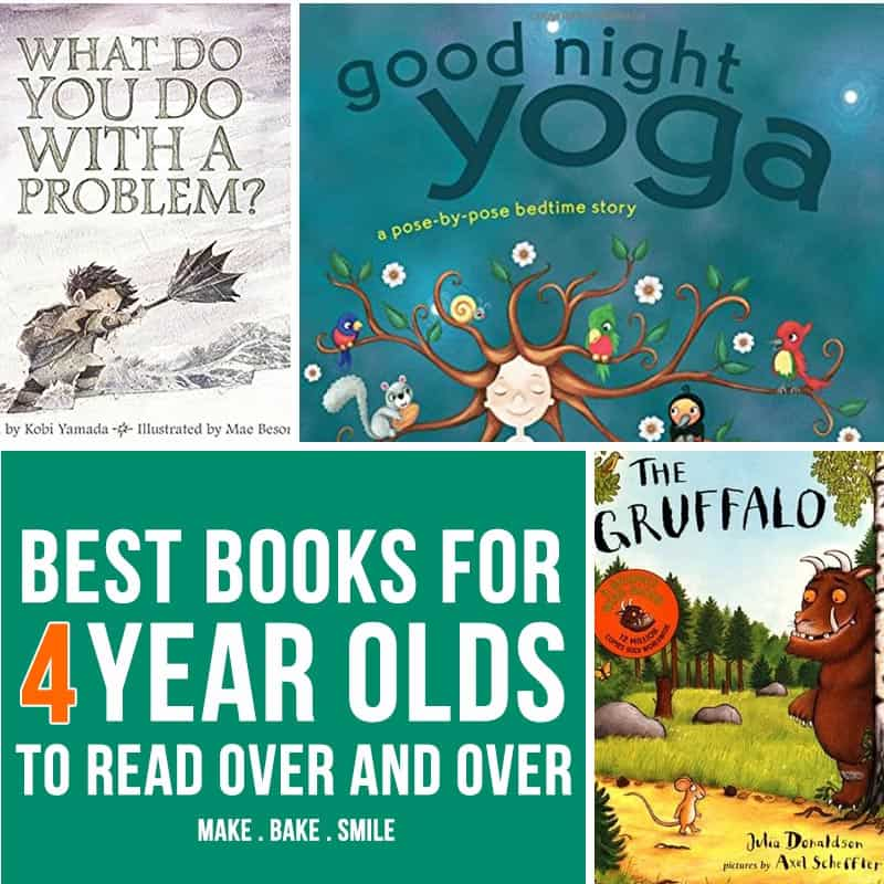 So many wonderful books in this list for 4 year olds to read over and over again!