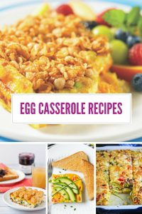 If you're having guests over for brunch this weekend you have to check out these DELICIOUS breakfast egg casserole recipes!