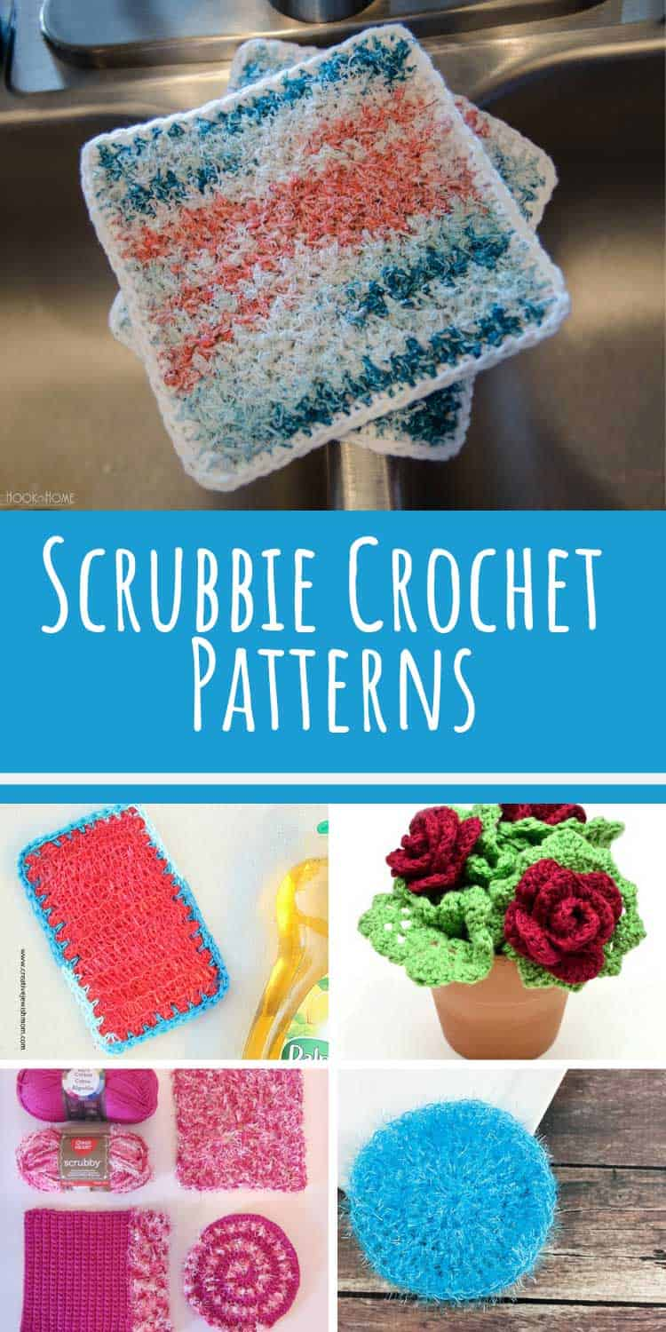These kitchen scrubbie crochet patterns work up really quick!