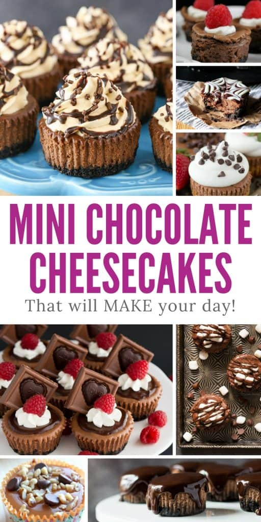 Did someone say mini chocolate cheesecakes? Oh we NEED these in our life right now!