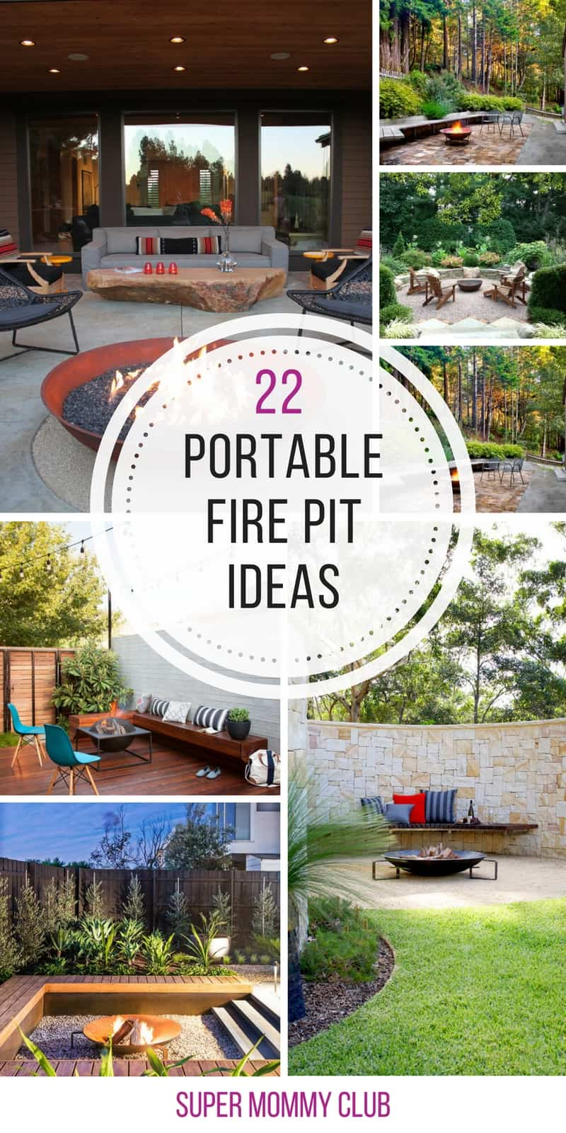 In LOVE with these portable fire pit ideas we NEED one on our patio! Thanks for sharing!