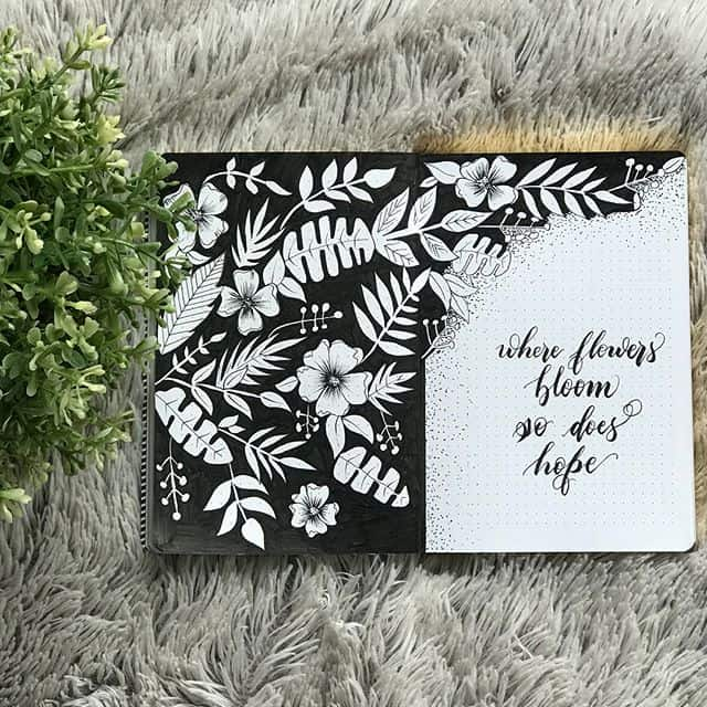 Black Floral Cover Page