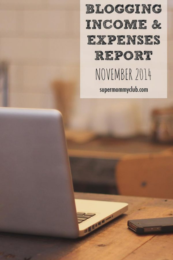 Blogging Income and Expenditure – November 2014