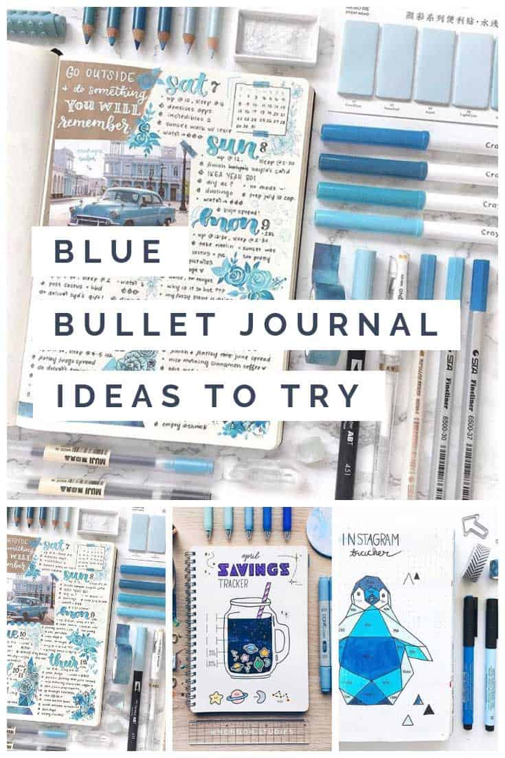 Drooling over these blue bullet journal spreads! So much inspiration here!