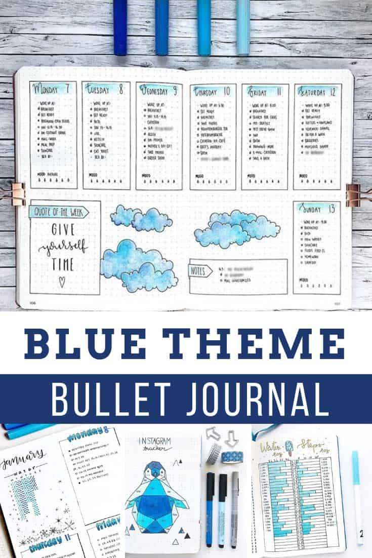 Ooh so much blue bullet journal inspiration here! That's my theme for next month sorted!
