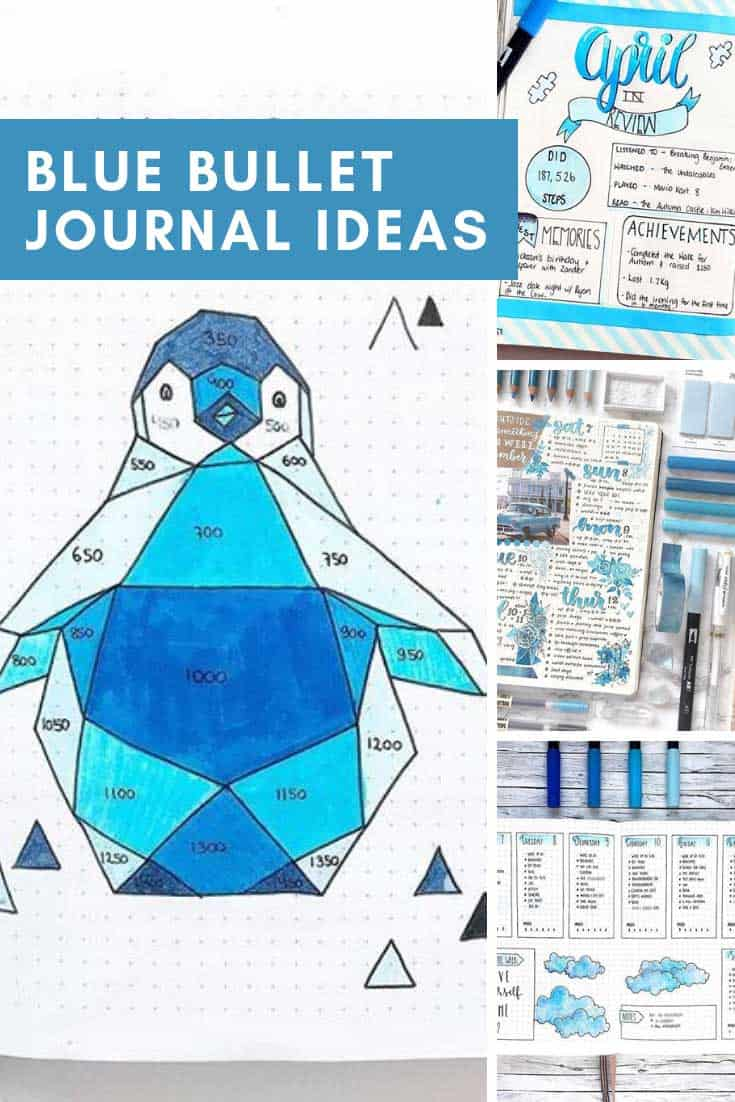 So many creative blue bullet journal ideas here to test out next month!