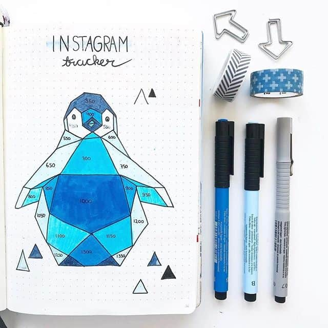 Blue instagram tracker