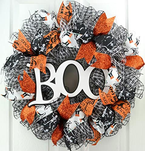 Boo Deco Mesh Wreath