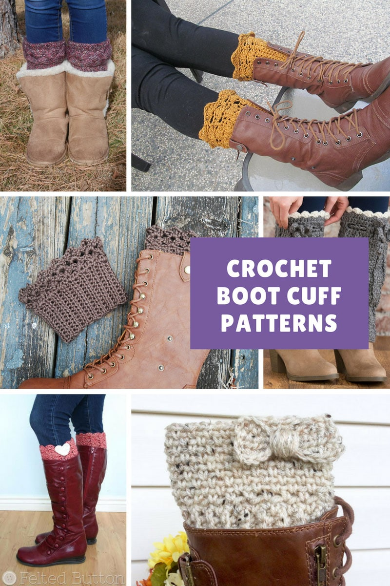 Boot Cuff Crochet Pattern - Want to add  a pop of colour to your winter wardrobe? How about making up some of these easy boot cuffs! #crochetpattern