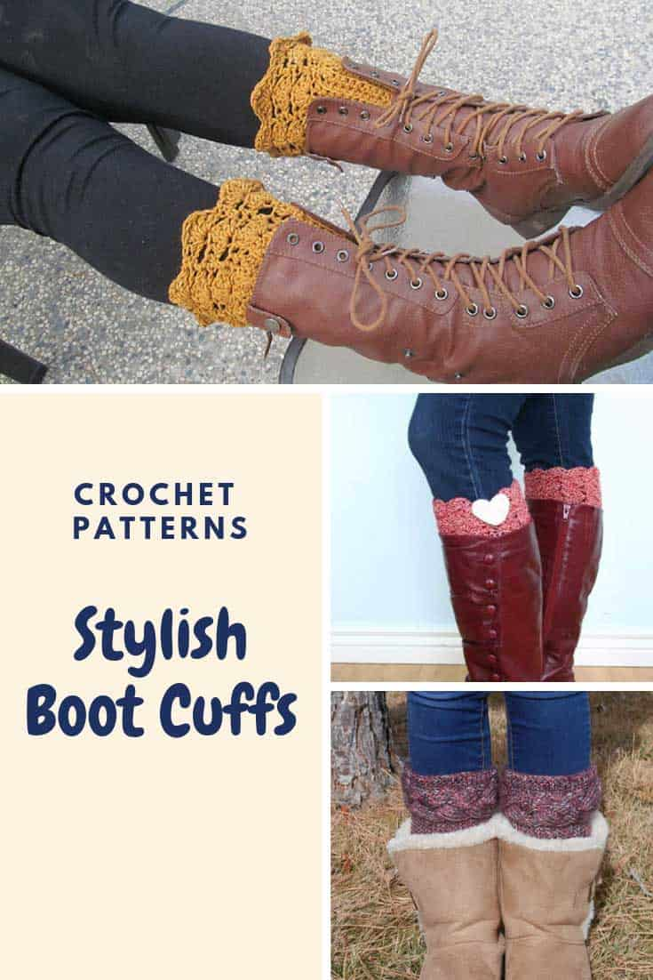 Love these boot cuff crochet patterns!