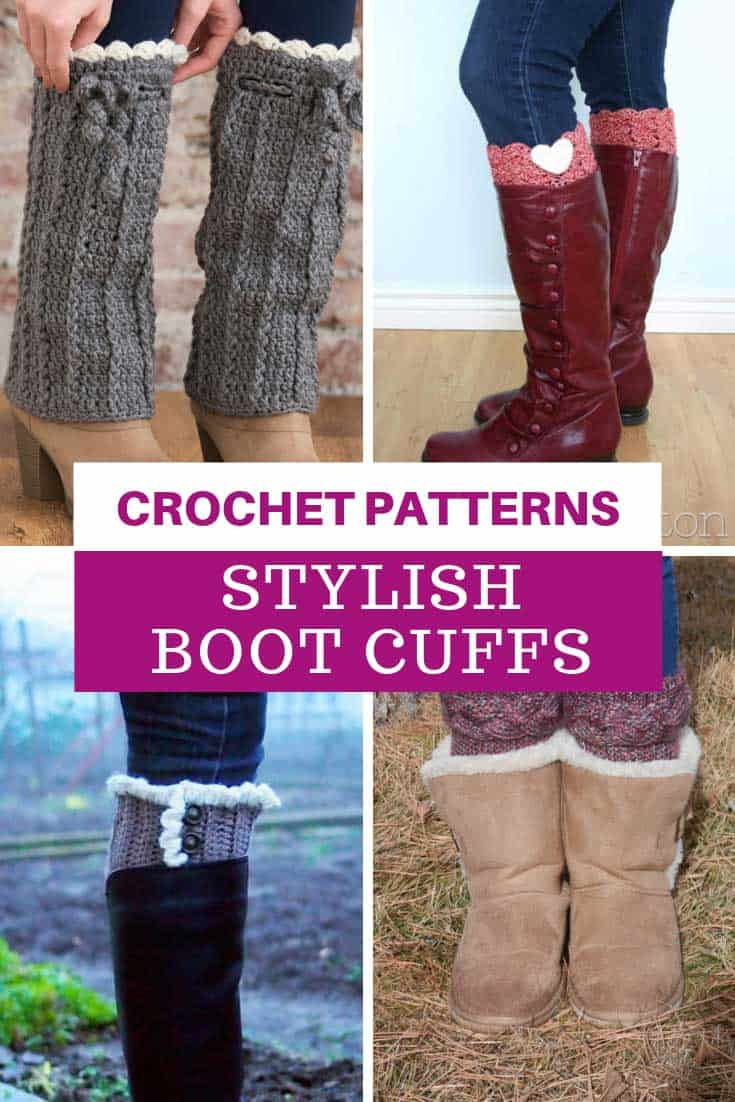Ooh loving these stylish boot cuffs - easy to follow crochet patterns too!