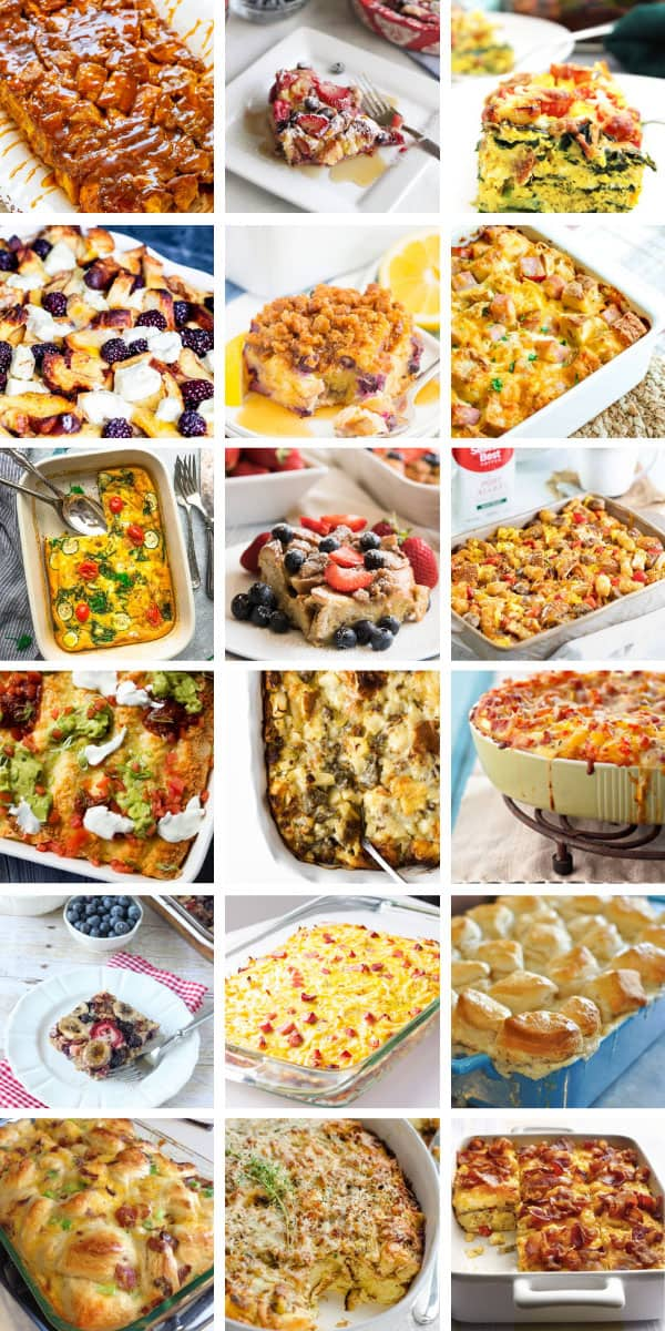 Did you ever see so many delicious breakfast casseroles for a crowd! They're easy to make too! #breakfast #recipe #food