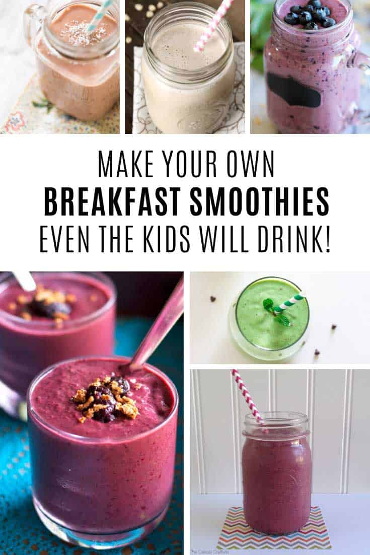 Easy Breakfast Smoothies {the whole family will love!}