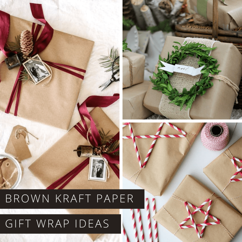 Forget store bought paper this year - you can make your gifts look extra special with a roll of kraft brown paper and a bit of imagination!