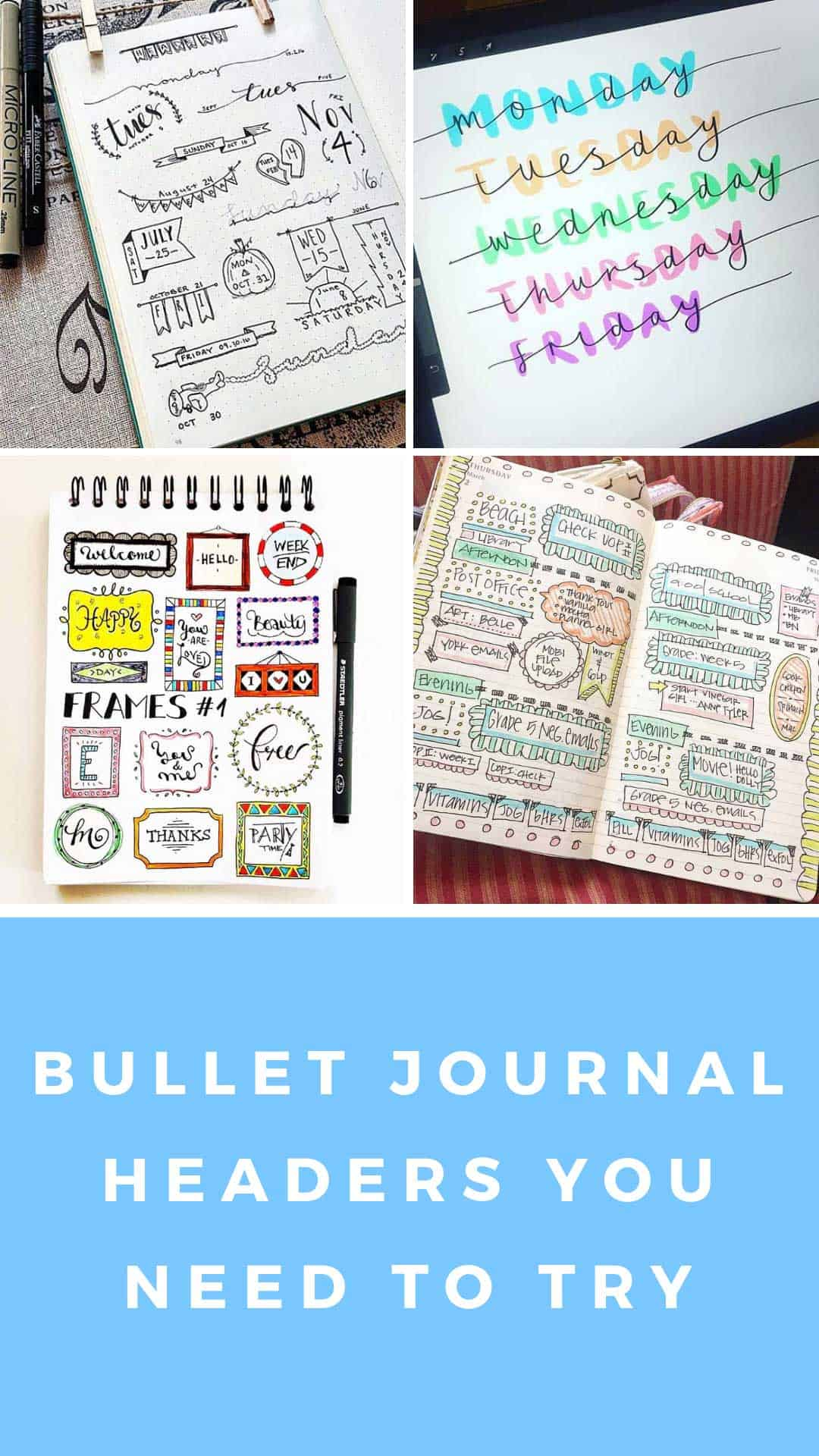 BUJO headers you'll want to try in your own bullet journal ASAP! #bulletjournal