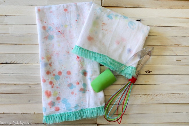 Summer Fun Bubble Paint Tea Towels
