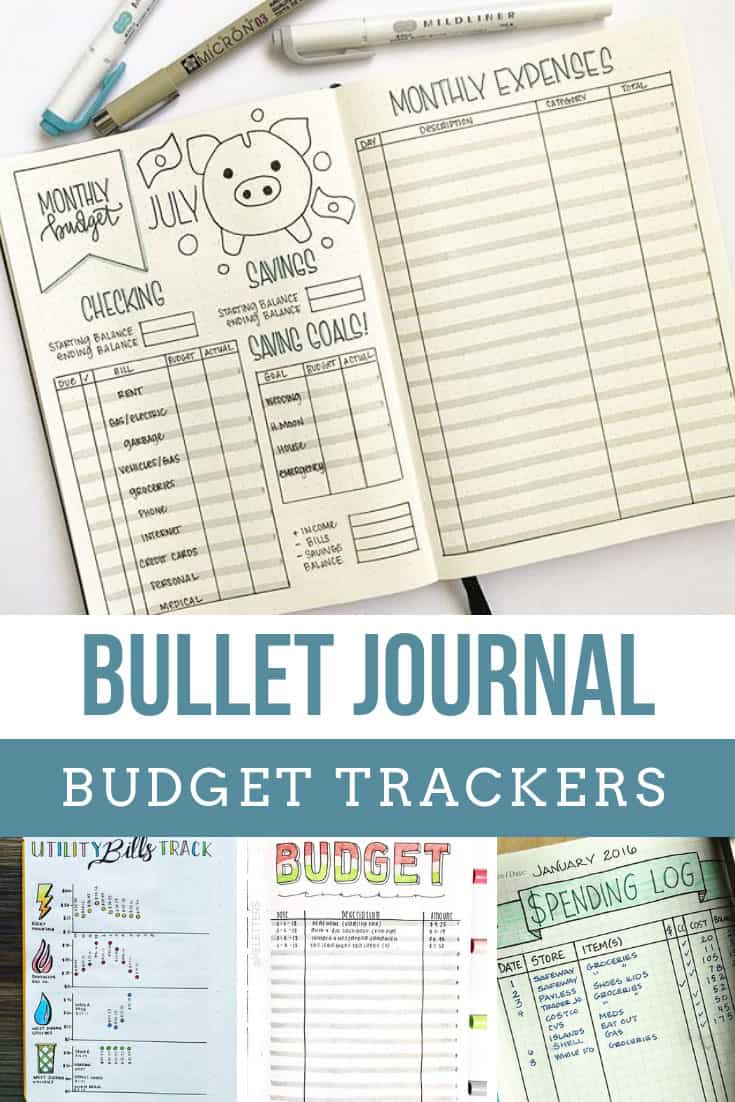 Always running out of money before the end of the month? Try one of these budget tracker bullet journal spreads to help you manage your money!