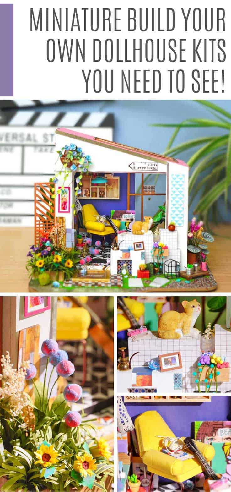 These build your own dollhouse kits are packed with so much detail they're mind blowing! They make wonderful Christmas gifts for the crafter on your list!
