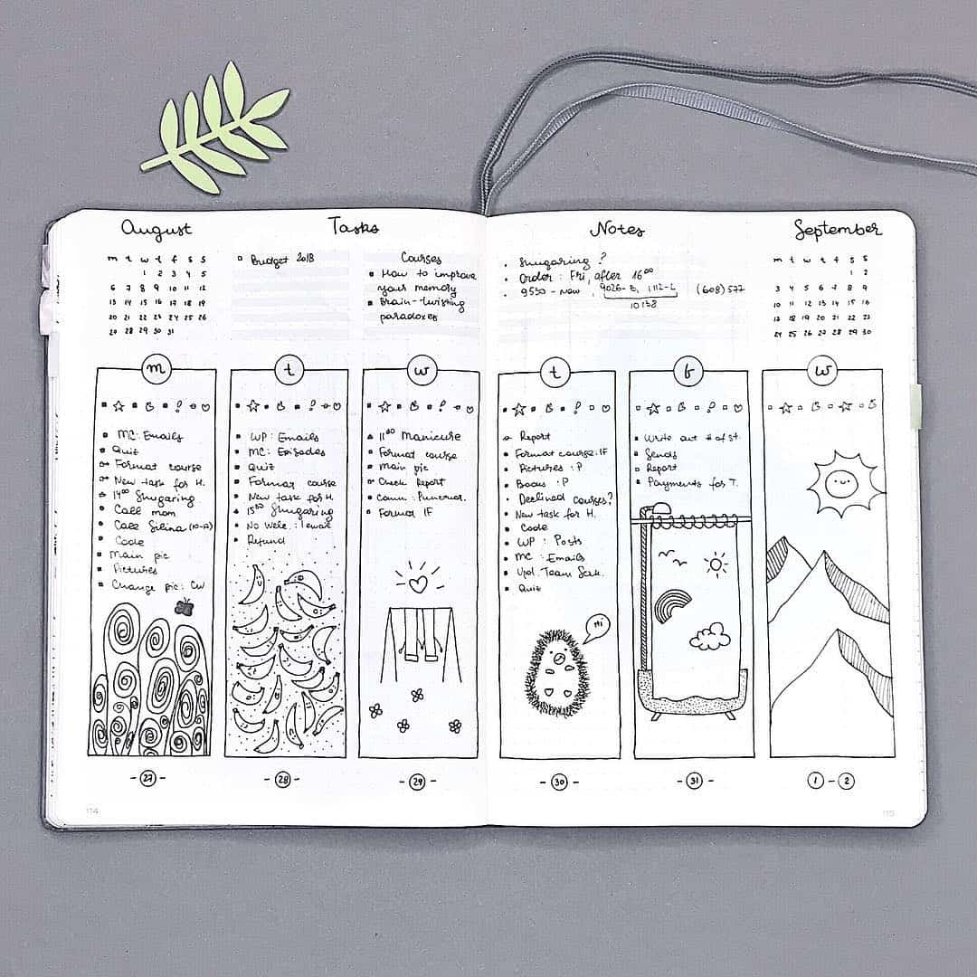 Bujo Doodle a Day Weekly
