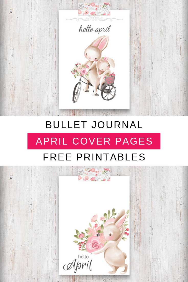 Free April Cover Page Bullet Journal Printables To Welcome
