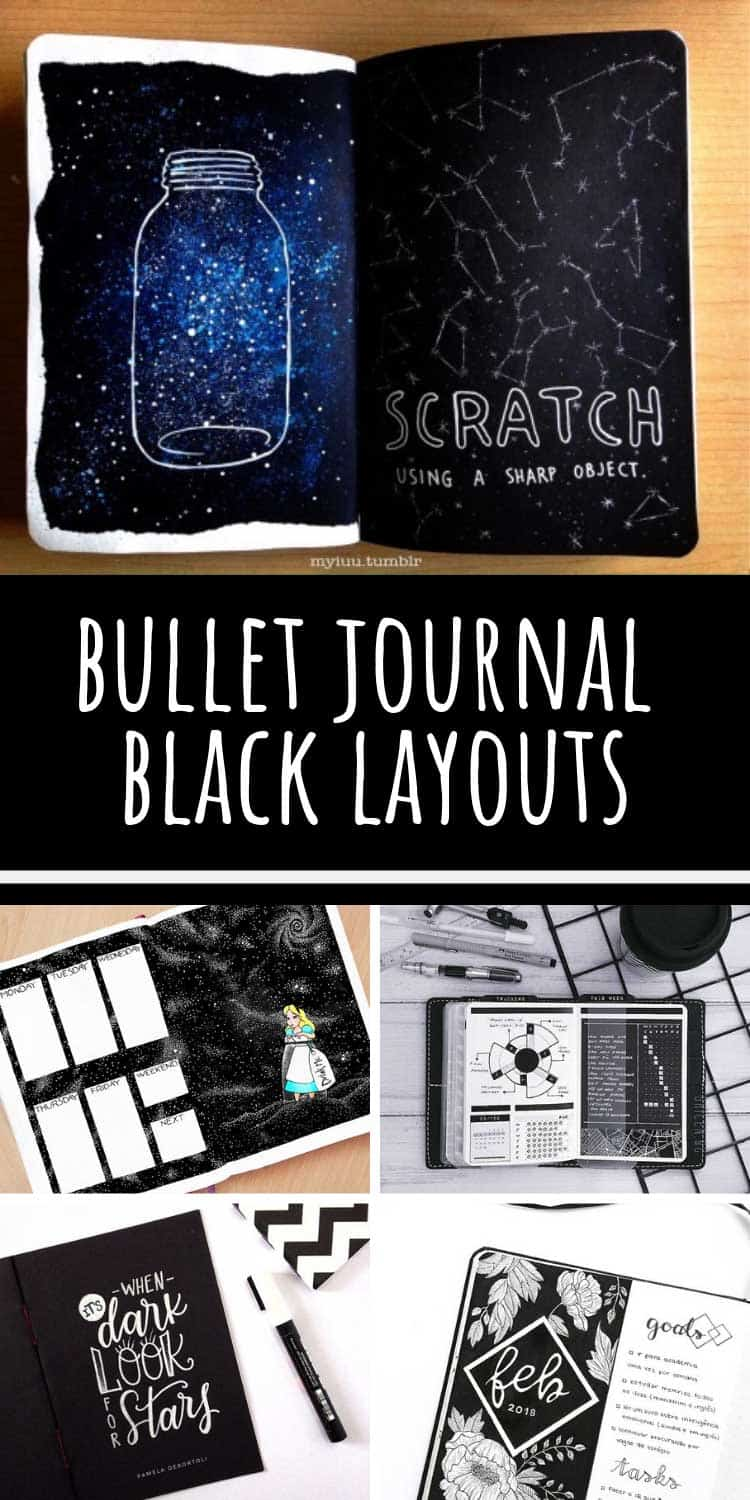 Loving these black bullet journal layouts - they're so STRIKING!