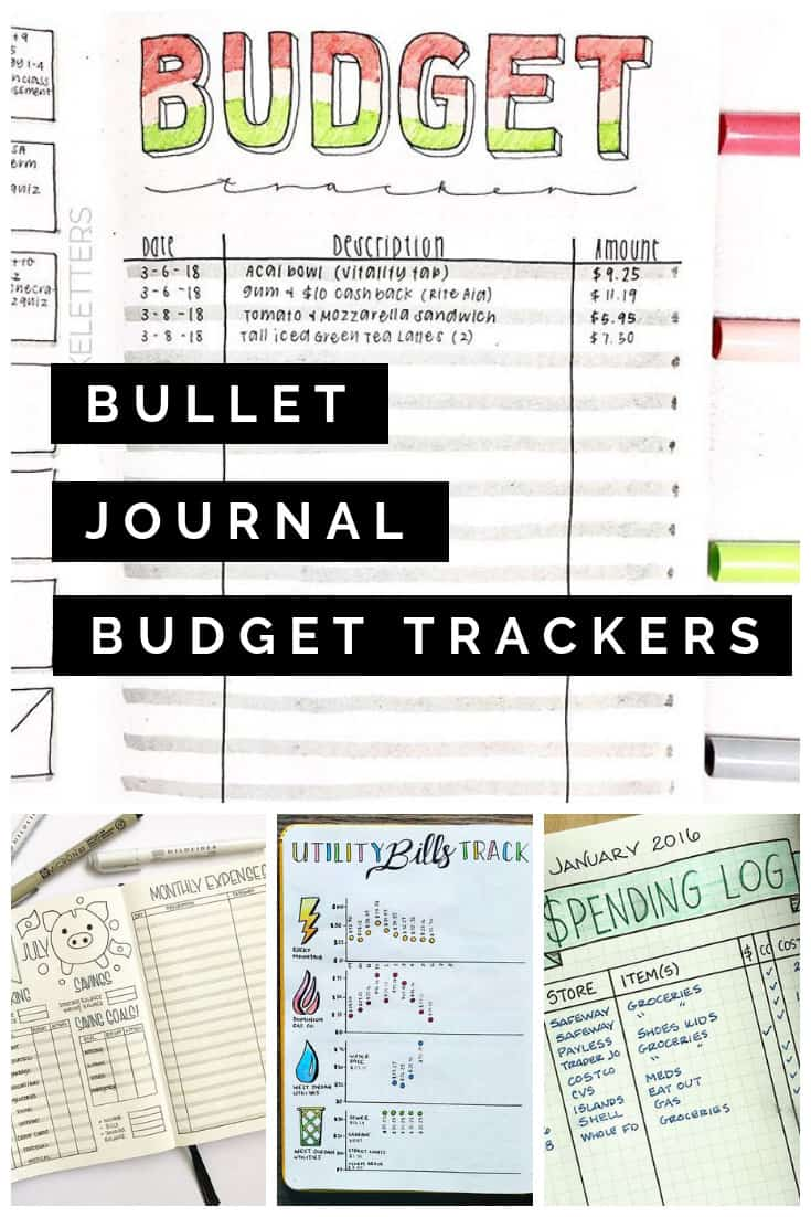 If 2019 is the year you're going to get a handle on your finances you NEED one of these budget trackers in your Bullet Journal!
