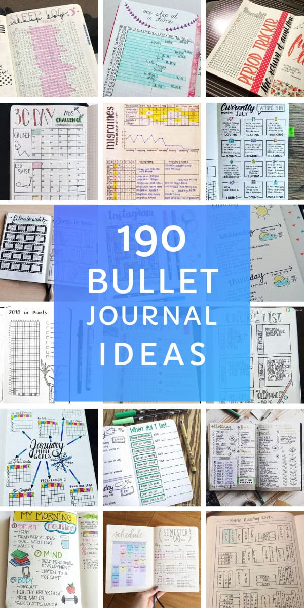 Wow this is a HUGE list of bullet journal collections - there is something here for every BUJO for sure! #bulletjournal