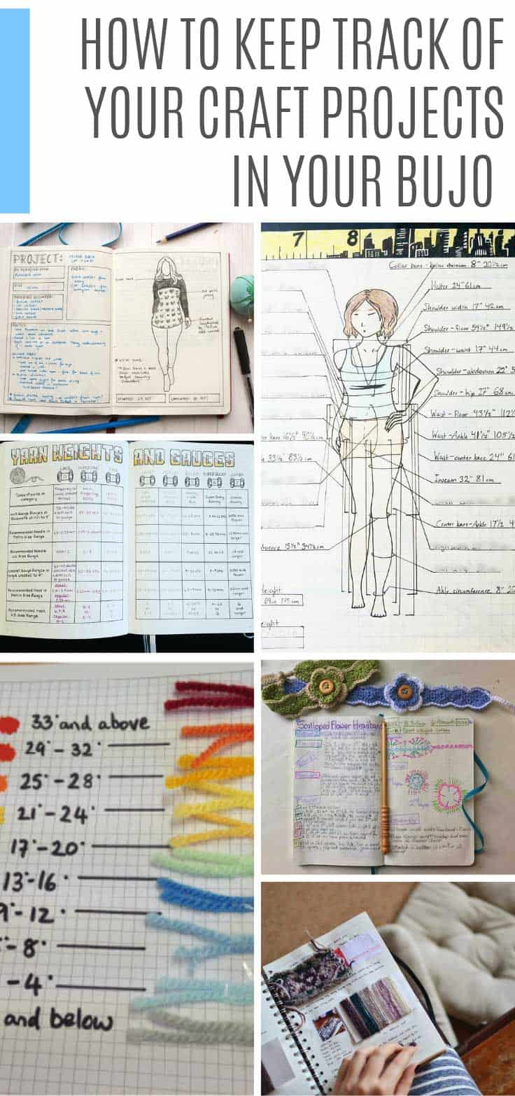 So many creative bullet journal craft tracker ideas to help you stay on top of your knitting and sewing projects! #bulletjournal