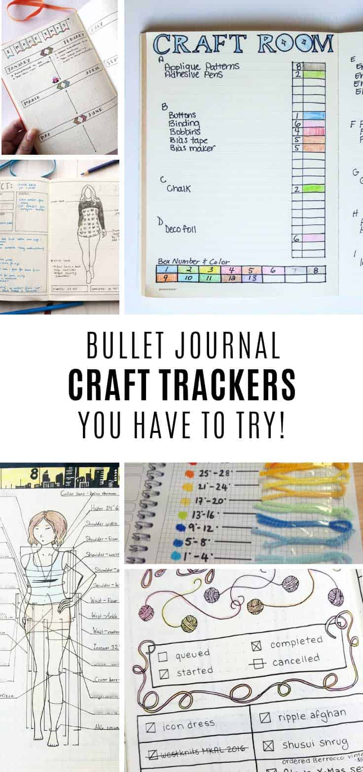 Loving these bullet journal craft trackers!