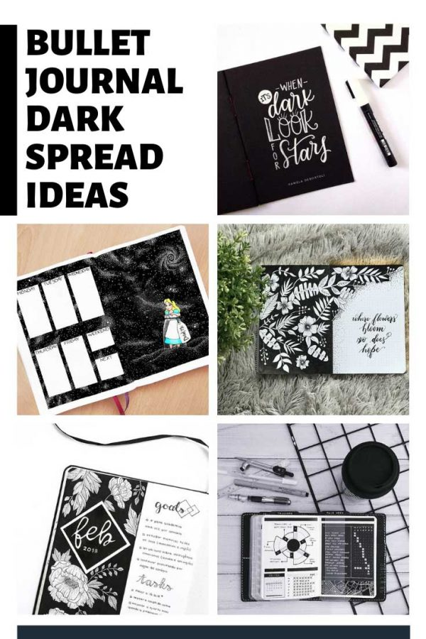 These dark bullet journal themes are so striking!