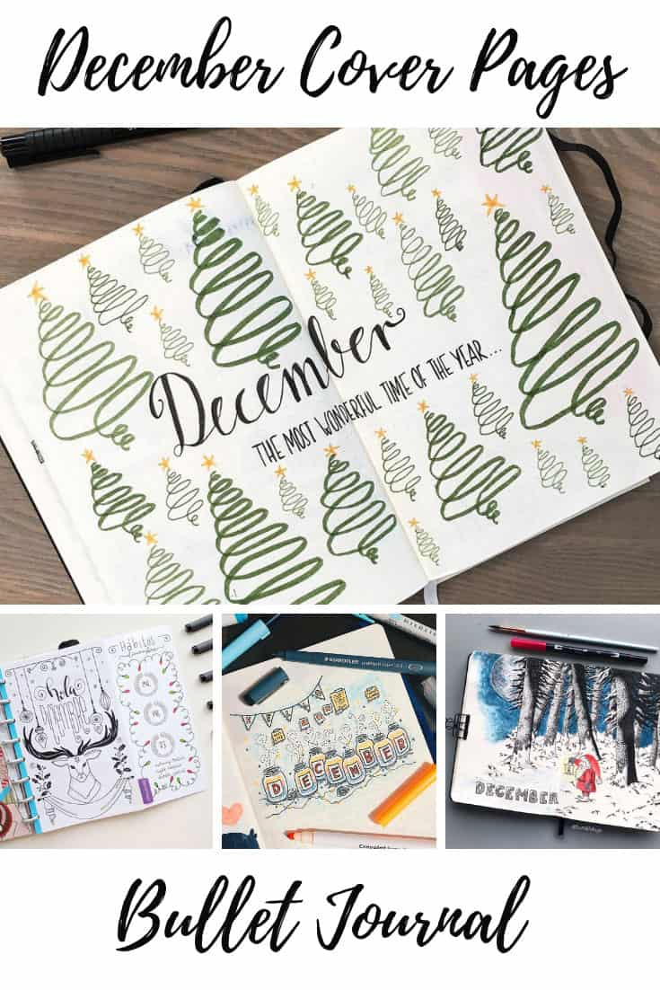 Bullet Journal December Cover Page Ideas