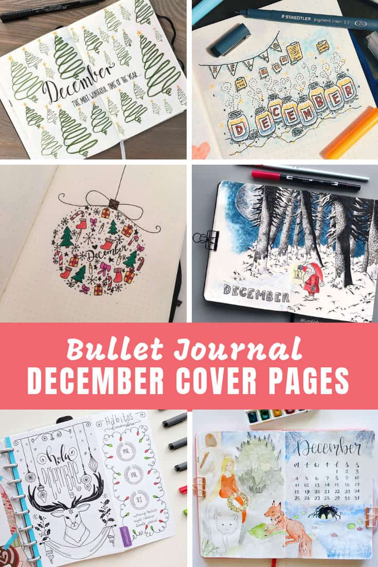Bullet Journal December Cover Pages