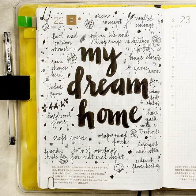 Bullet Journal Dreams Layout