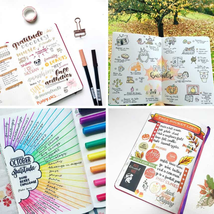 Bullet Journal Fall Themes