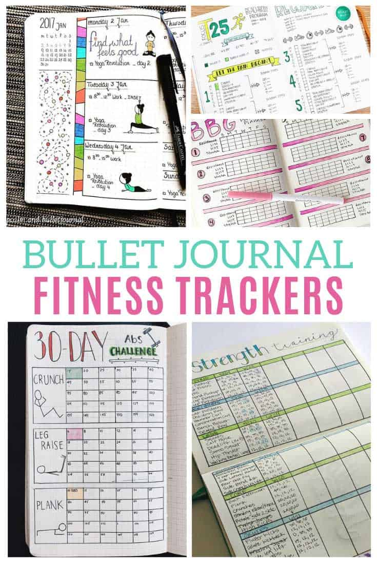 Rock your goals this year with one of these bullet journal fitness trackers!