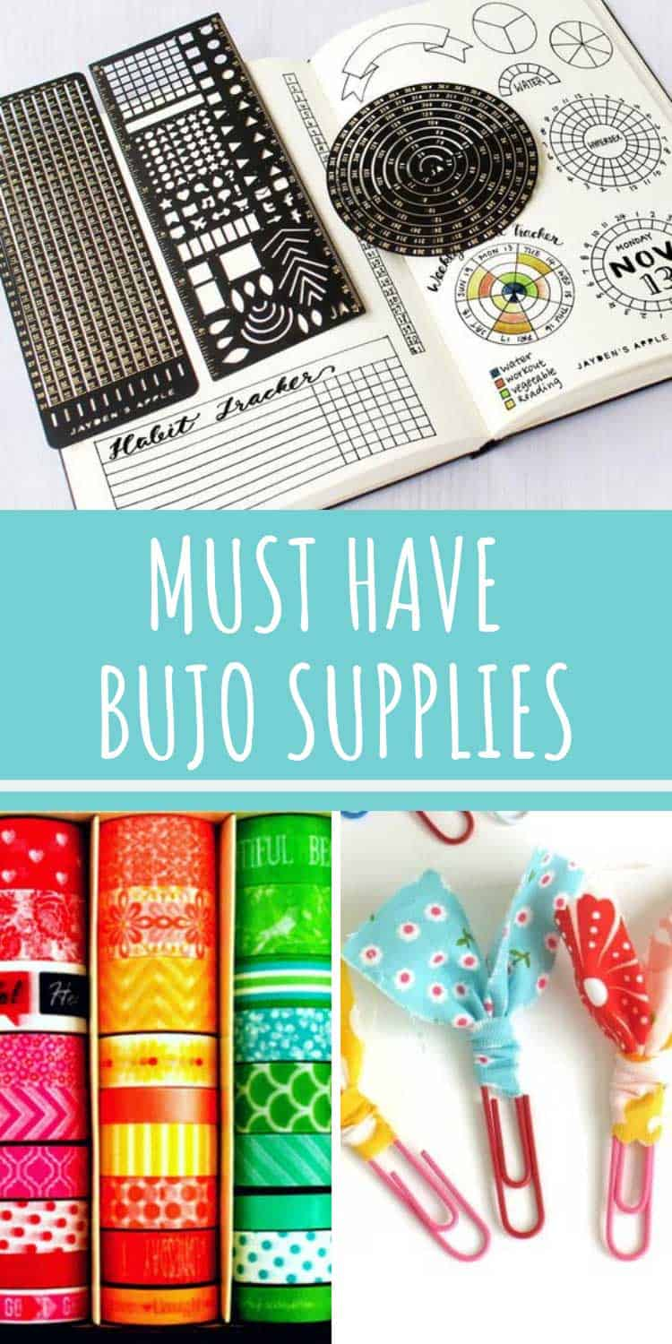 Love this list of must have bullet journal supplies!