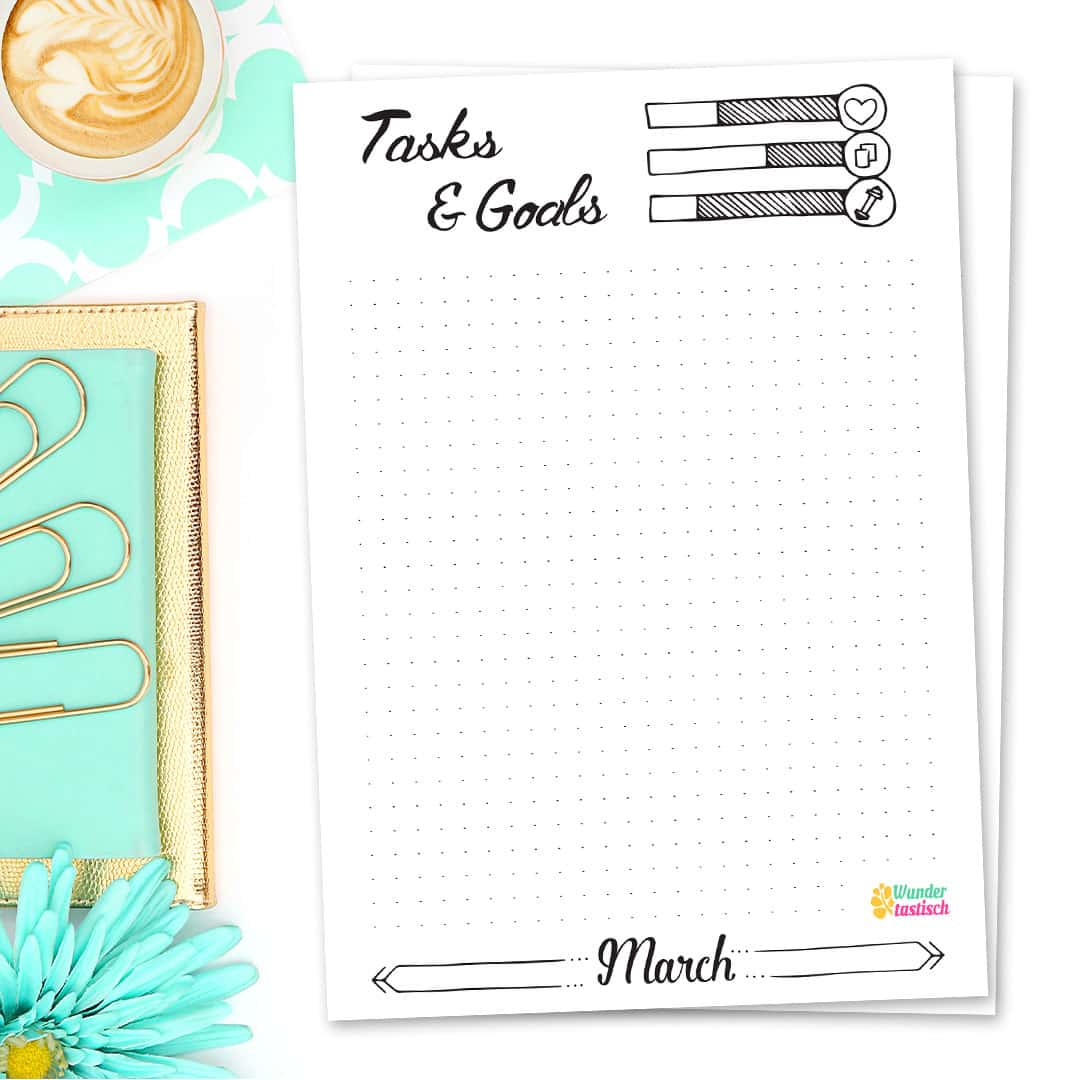 Bullet Journal Goal Tracker Printable