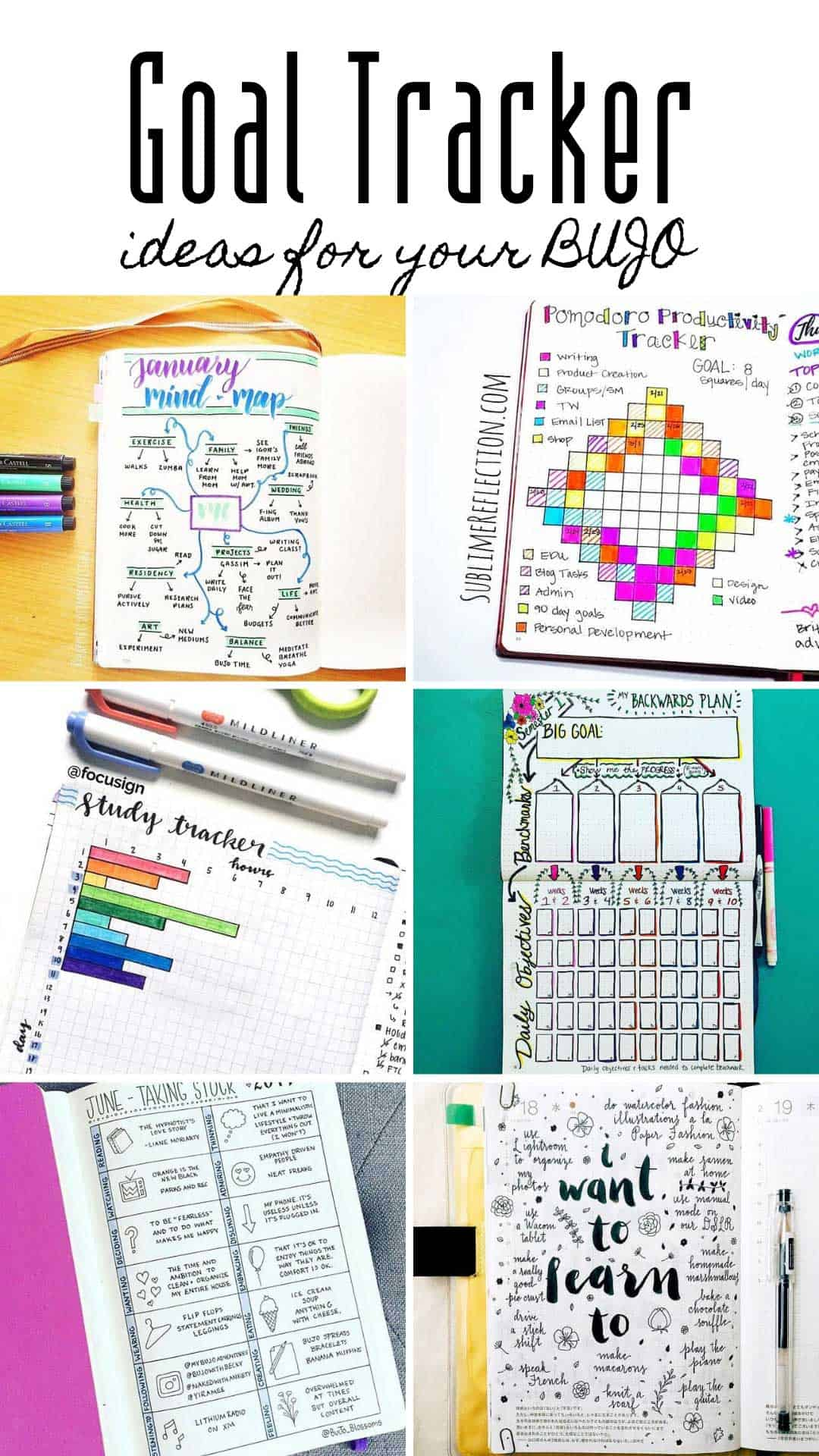 A bullet journal goal tracker is just what you need to turn those dreams into reality! Check out all of the spreads and ideas.