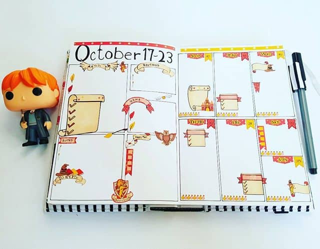 Bullet Journal Gryffindor