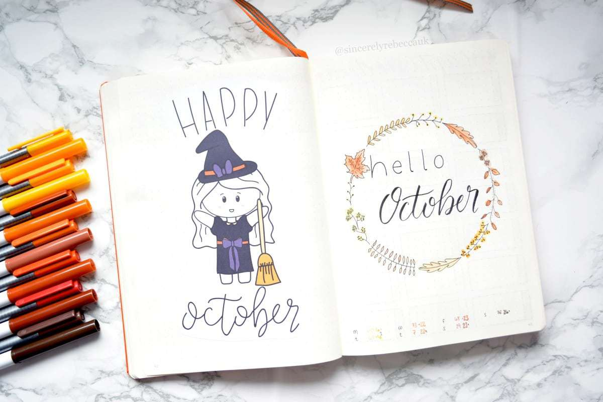 Bullet Journal Happy October Witch