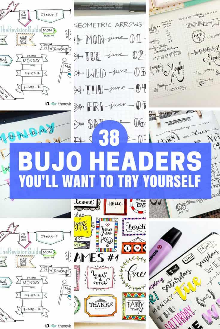 Bullet Journal Headers Ideas