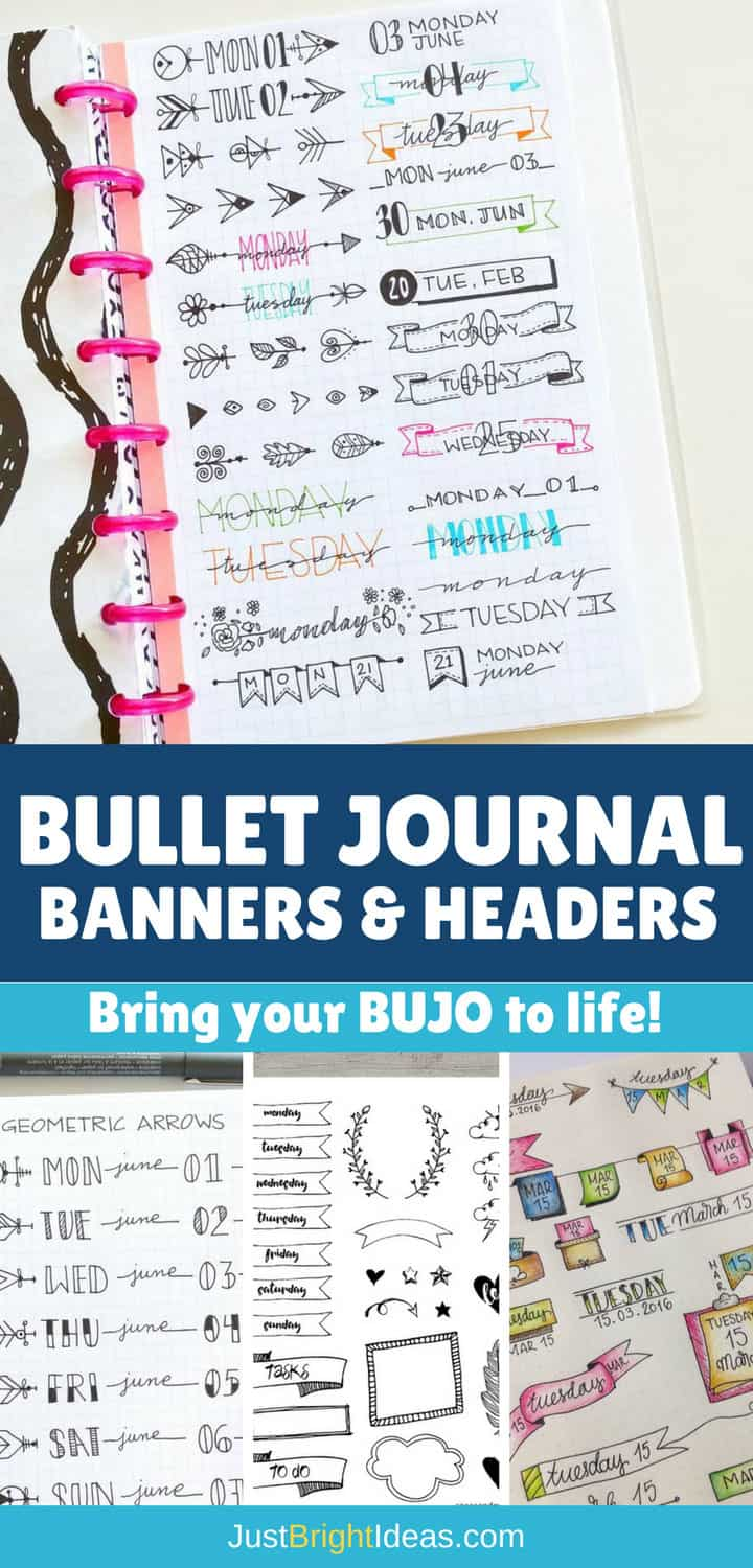 Bullet Journal Headers and Banners - Pinterest