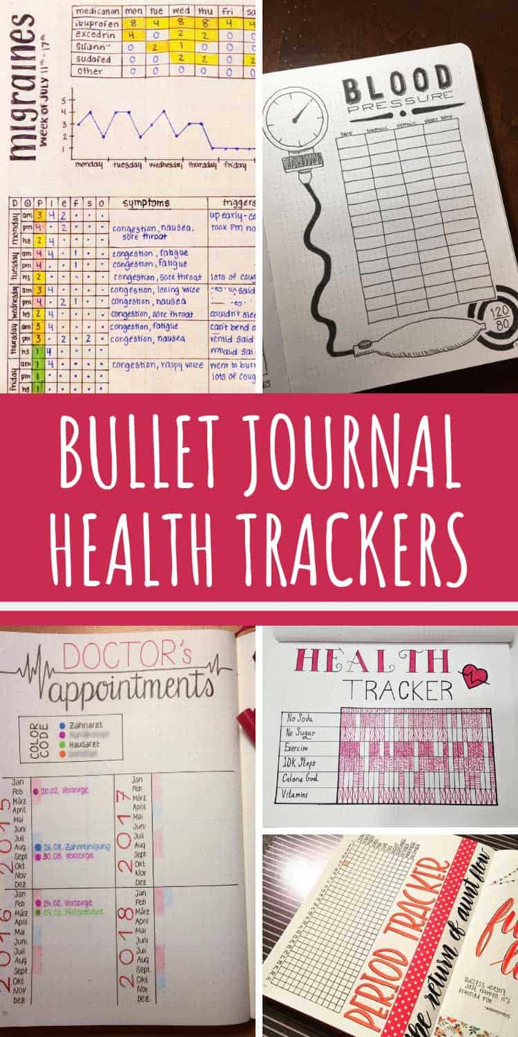 Check out these bullet journal health trackers especially the migraine tracker!