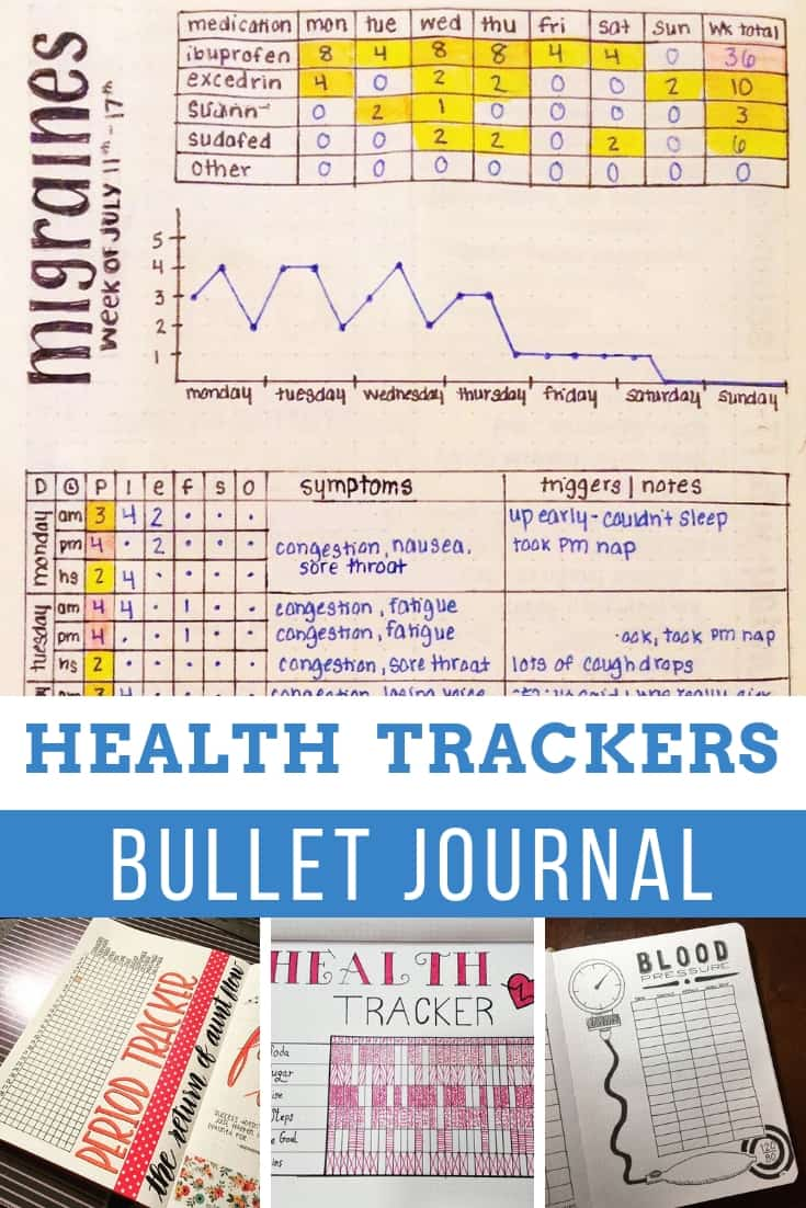 So many useful bullet journal health trackers for 2019!